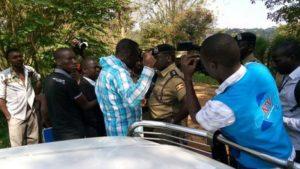 Kizza Besigye arrested during Bobi Wine court martial trial