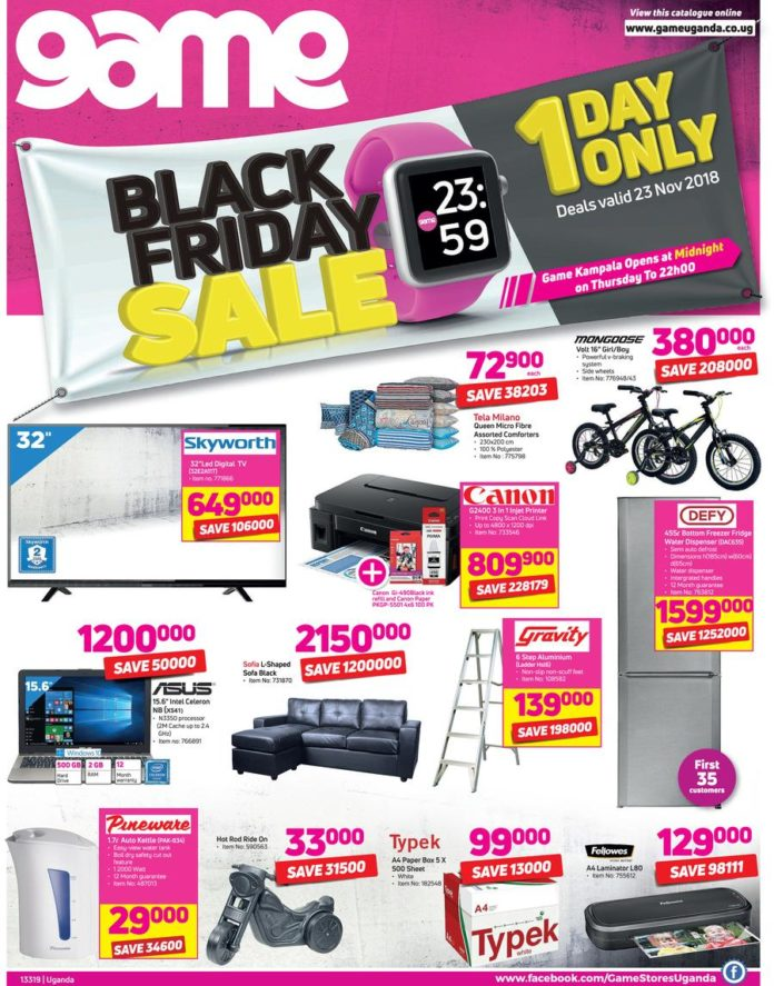 More Black Friday Deals Game Stores And Mr Price Also In Flash Uganda Media