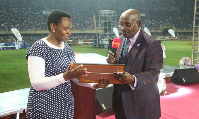 Edith Nakalema is a Born Again christian, together with Dr Serwadda at Namboole passover