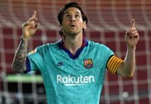 Lionel Messi Barcelona converted a 69th-minute penalty