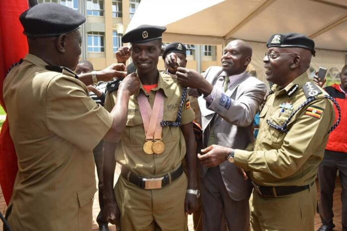 Cheptegei promoted to the rank of Assistant Superintendent of Police