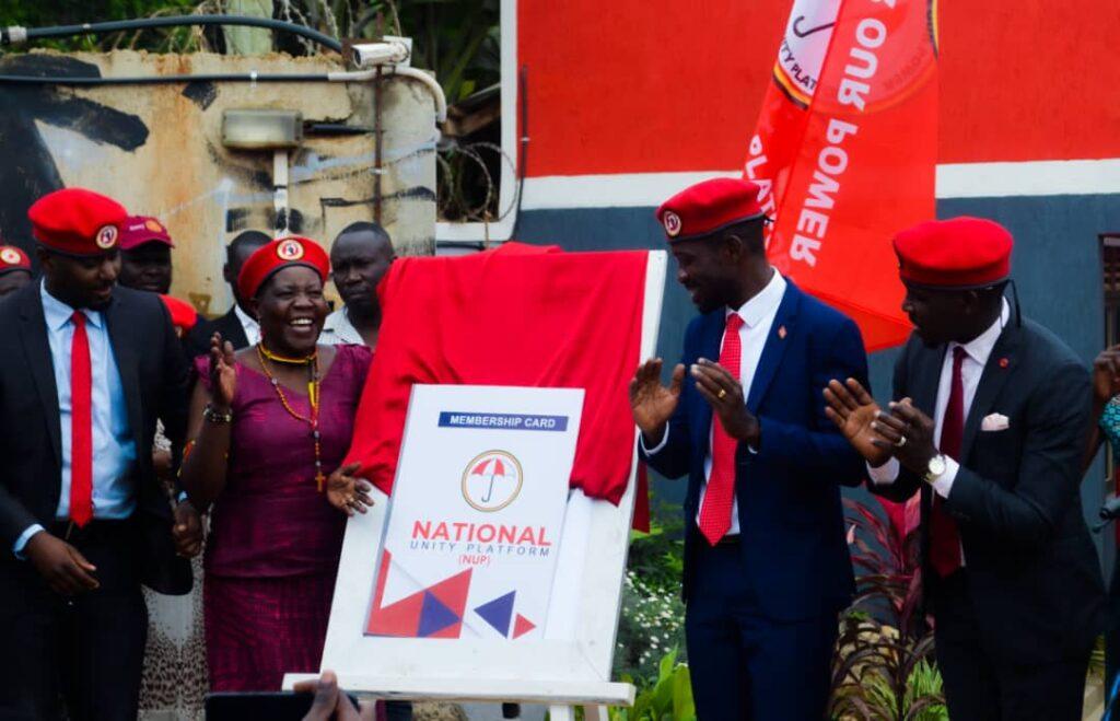 Kyagulanyi said NUP membership cards