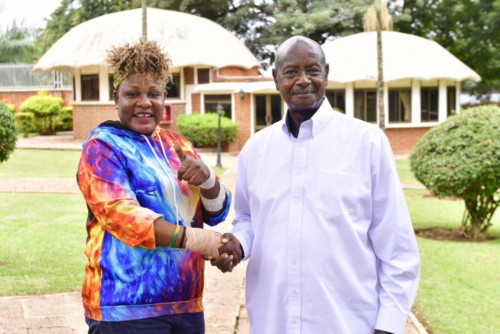 Jennifer Namutebi Nakangubi meets nrm flag bearer Museveni