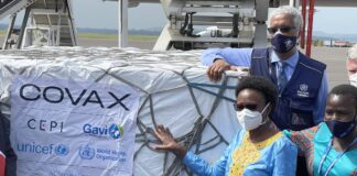 Uganda receives 864,000 COVID-19 vaccines from COVAX